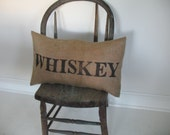 whiskey...stamped eco friendly and recycled shabby burlap pillow slips from down south 13 inches by 20 or so bolster