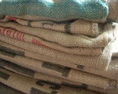 RESERVED ERIN ROBINSON: 17 Burlap Coffee Sacks for your French Country, Shabby Chic, Rustic or Flea Market Style Decor