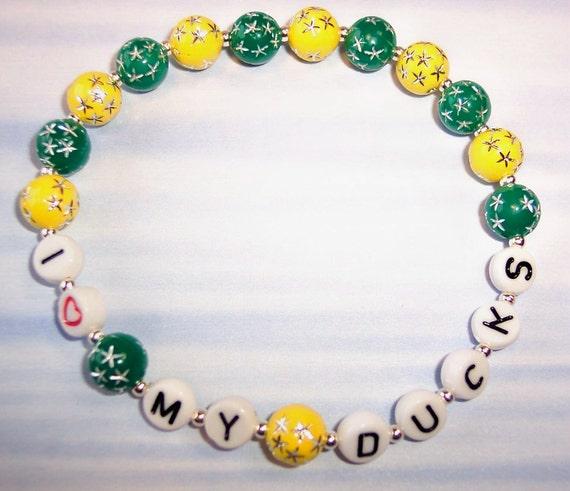U of O I Love My Ducks Bracelet   Free Shipping