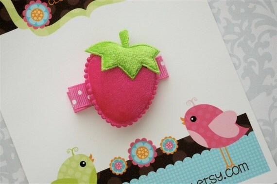 SALE - Berry Hair Clip