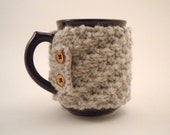 NON-SLIP Linen Colored Coffee Cup Cozy