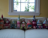 teeny house... personalized tall or short house pillow