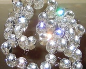30% Lead Crystal Garland - 1 yard - Gold or Silver Connectors