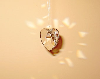 Crystal Clear 28mm Heart