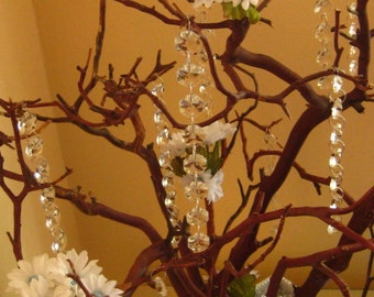 Manzanita Crystal Tree with Daisies