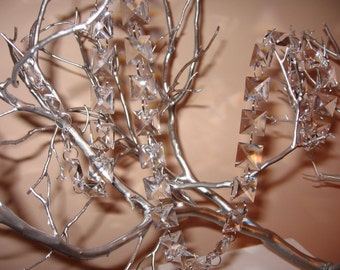18mm Square 30% Lead Crystal Garland for Manzanita Trees - 1 yard