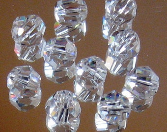 10 30% Full Lead Clear Crystal Beads - 12mm