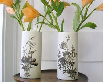 2 Ceramic Matching  Vases