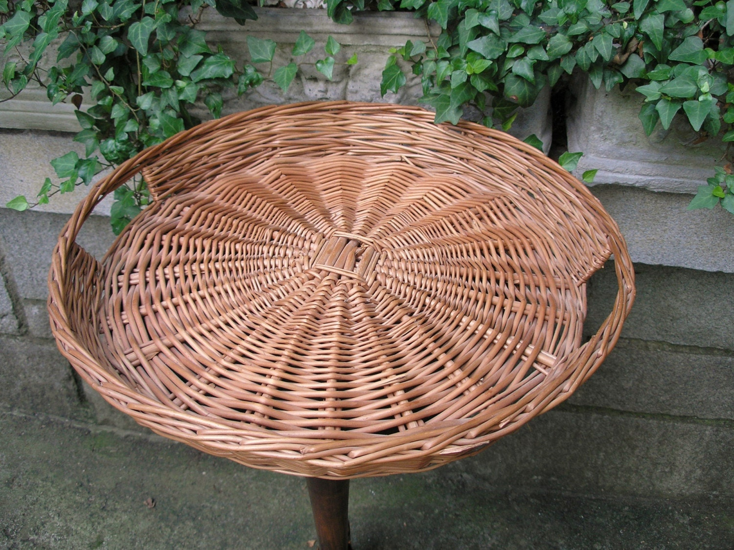 Large Wicker Tray By Placemichel On Etsy