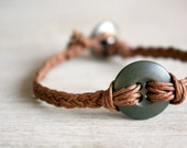 Military button braided - bracelet