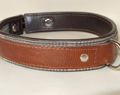 dog collar leather handcrafted