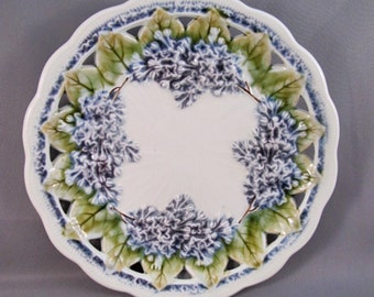 Majolica Plate with Lilacs by Villeroy And Boch