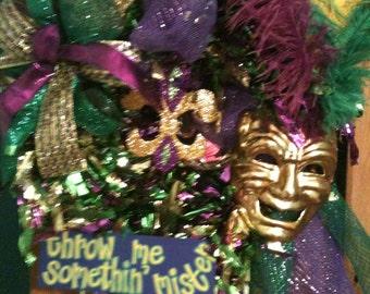 Authentic New Orleans Mardi GRAS wreath
