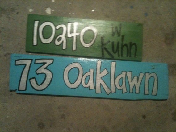 Custom Hand painted ADDRESS Sign  Recycled Reclaimed Antique Cypress Pine New Orleans