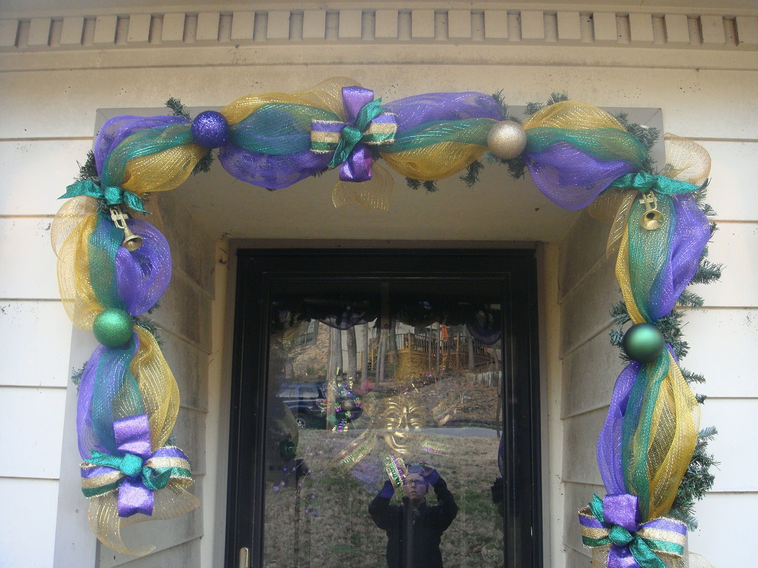 Sale last one whimsical mardi gras garland deco mesh