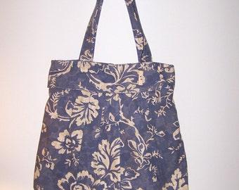 Blue Handbags Light Blue Handbag Tote Shoulder Bag Purse Women's Handmade Handbags Fabric Purse