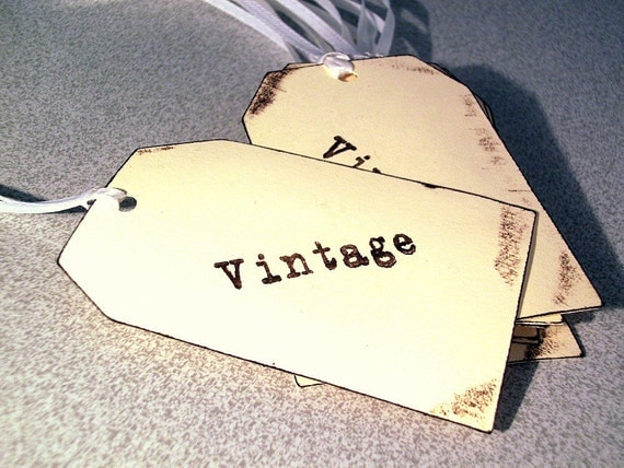 Vintage hang tags thank you customer messages