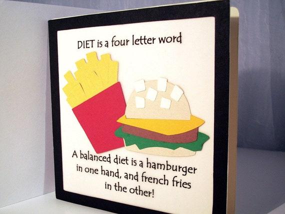 Diet greeting card weight loss balanced diet