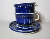RESERVED - Arabia Finland Valencia  Tea Cups w/ Saucers - Set of Two