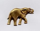 3 Elephant Brass Metal Stampings