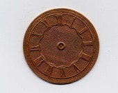 6 Round Watch or Clock Face Brass Metal Stampings