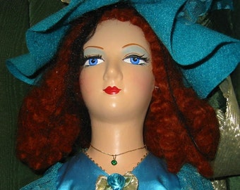 SALE-Vintage Collectible Original Boudoir Doll Named Amy