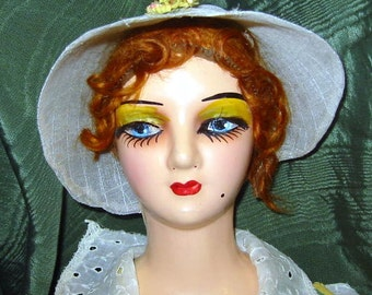 Vintage Irish Collectible Original Composition Boudoir Doll
