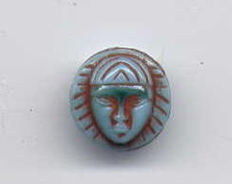 10 Antique Egyptian Face 10mm Cabs