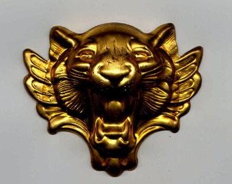 Huge Lion Head Brass Metal Stamping
