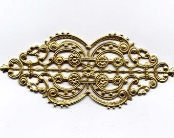 Etruscan Style Backing Brass Metal Stamping