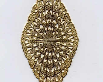 Feathered Backing for Pin Brass Metal Stamping