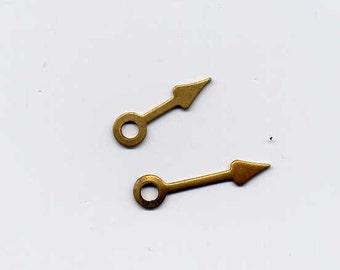 12 Watch Hands Brass Metal Stampings