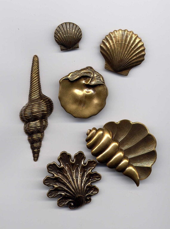 Seashell Assortment No.1 Brass Metal Stampings
