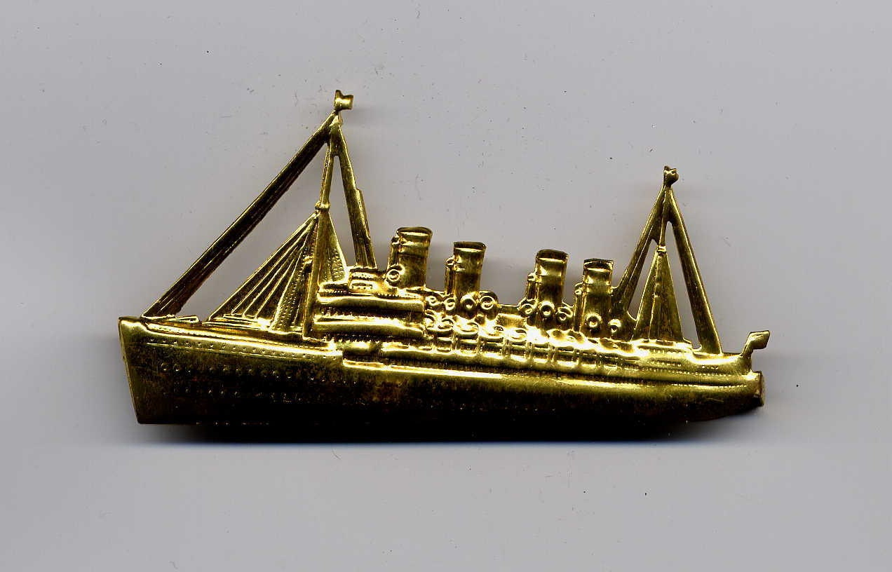 6 vintage ship brass metal stampings haute juice for Metal stamping press for jewelry