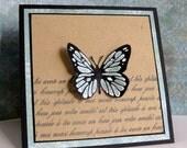 blank handmade butterfly card