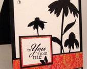 Blank inside handmade greeting card