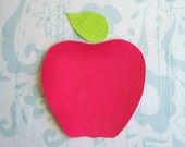 Iron On Fabric Applique - Red Apple