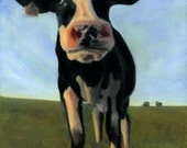 Funny Holstein Cow Print for 14 x 18 Inch Frame - Cow Art - Funny Animal Art - 10% Benefits Animal Charities