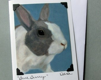 Rabbit Card -  Easter Card - Bunny Postcard Greeting Card Combination - Easter Bunny - Cute Animal Art Card - 10% Benefits Animal Rescue