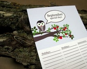 Owls Talk Birthday Calendar