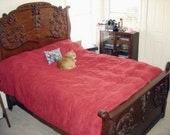 RESERVED - - -  SALE FANTASTIC American Tiger Oak Bed