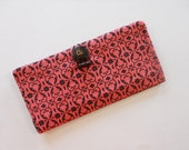 Pink and Brown Fabric Wallet
