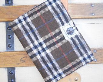 Tablet Sleeve Brown Plaid