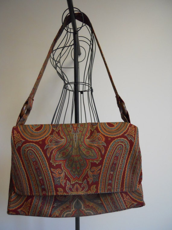 Large Messenger Bag in Ralph Lauren Fall Paisley