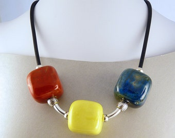 Chunky Ceramic Colourful Necklace