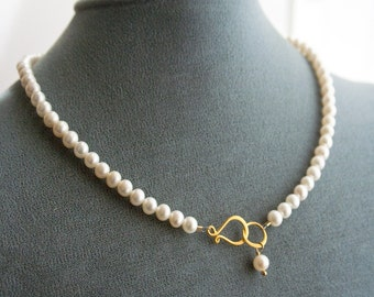 Pearl Necklace, Wedding Jewelry, Bridal Necklace