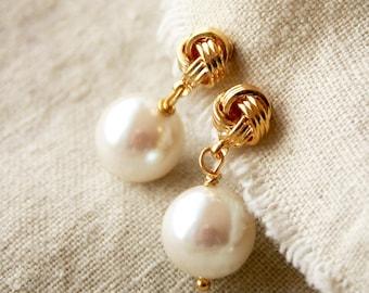 Vintage Pearl Earrings, Bridal Earrings, Bridesmaid Earrings
