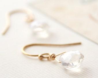 Quartz Earring, Gift for Her, Gemstone Jewelry, Bridesmaid Jewelry