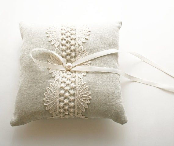 Wedding Ring Pillow, Ring Bearer Pillow, Ring Cushion