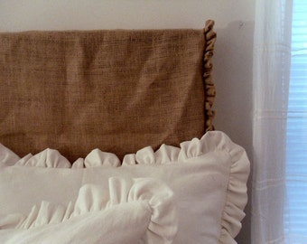 Natural Burlap Headboard Slipcover